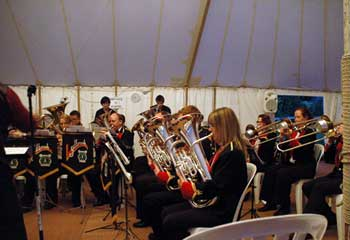 Band in marquee