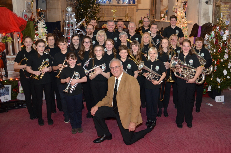 Lydbrook Training Band at Lydbrook Chruch Christmas 2016
